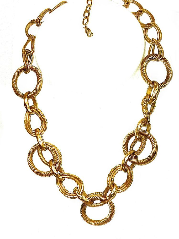 3da3985756bc20 VINTAGE ROSA FLORES 18K GOLD PLATED HEAVY TEXTURED ROPE CHAIN MODERNIST  NECKLACE #ROSAFLORES #Chain
