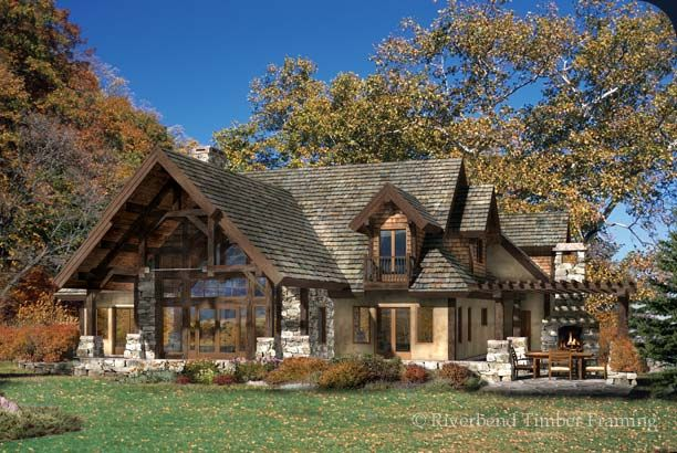 Top 20 luxury log timber frame and hybrid homes of 2015 for Timber frame hybrid house plans