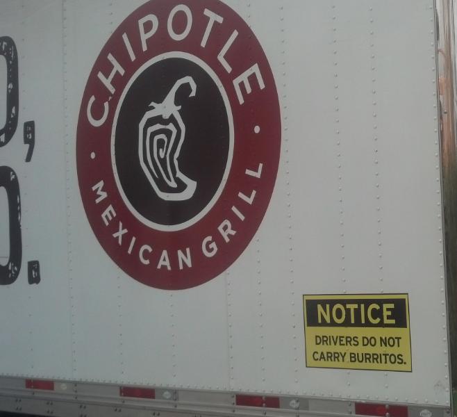 Warning On Chipotle Truck Company Logo Tech Company Logos Logos