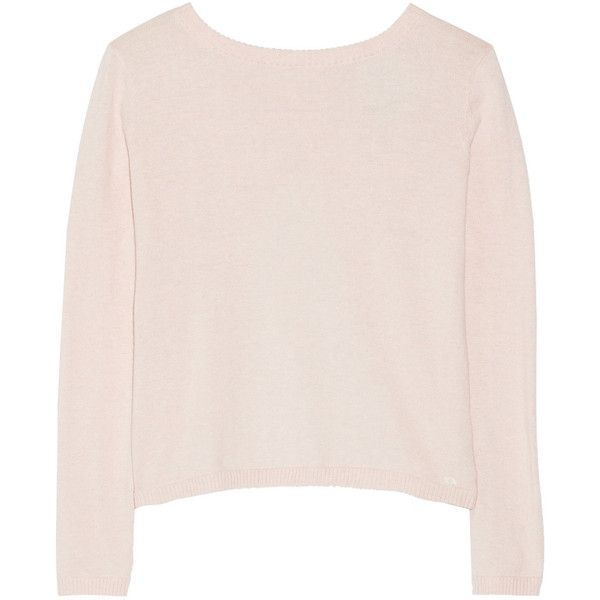 Banjo & Matilda Manhattan cotton and cashmere-blend sweater (¥19,160) ❤ liked on Polyvore featuring tops, sweaters, shirts, sweatshirts, pink, loose shirts, loose fitting shirts, cut loose shirt, shirts & tops and loose fitting tops