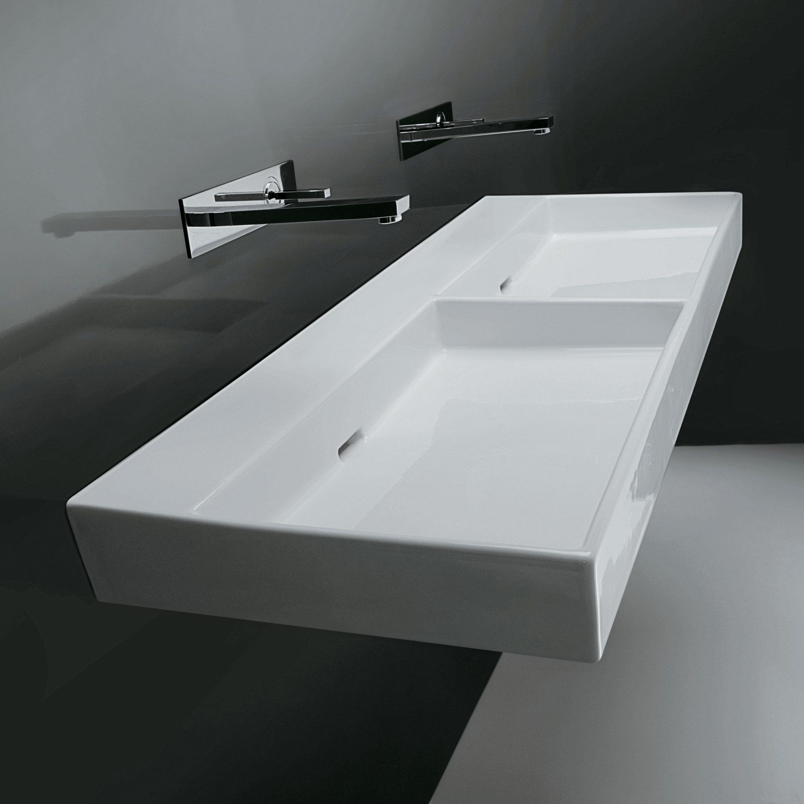 Ws Bath Collections Urban 120 Wall Mount Double Bathroom Sink