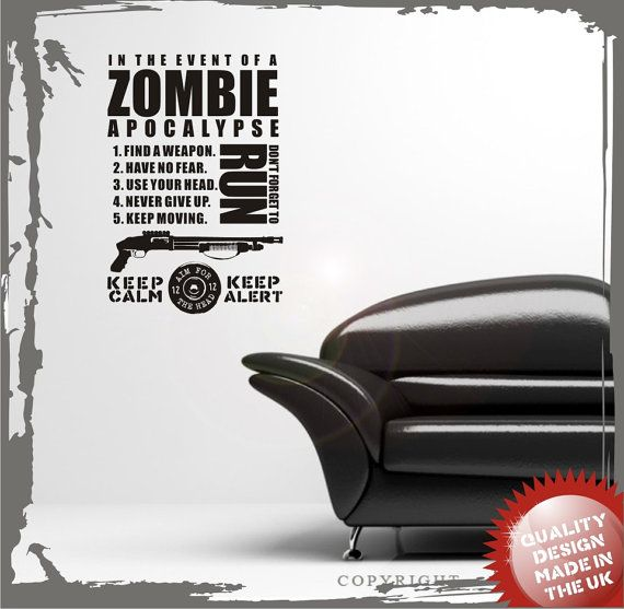 Zombie apocalypse vinyl wall decal sticker | Rules quotes ...