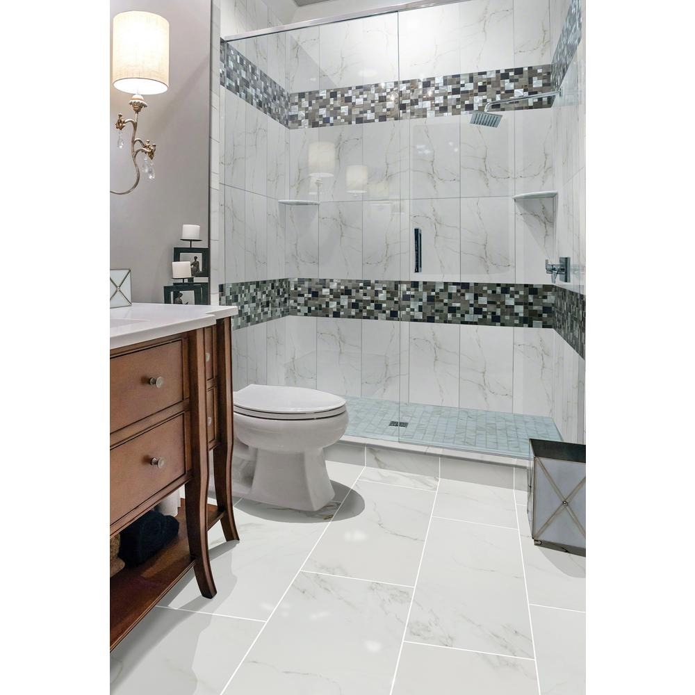 Home Decorators Collection 12 in. x 24 in. Carrara