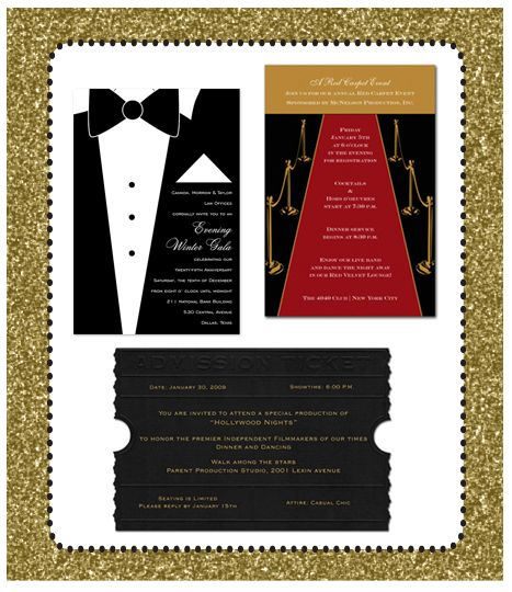 oscar party invitations Party - Oscars Pinterest Oscar party - movie invitation template free