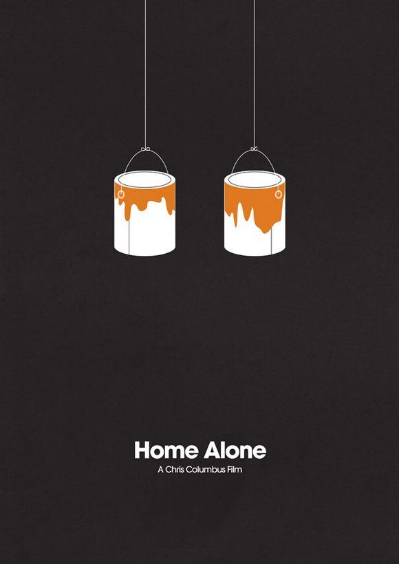 Home Alone Creativos y minimalistas posters de películas