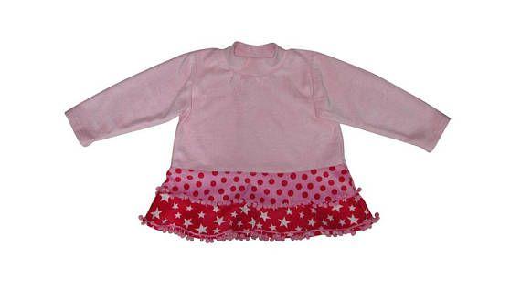Kleid Baby Kleinkind Größe 50-92 Shirt Stufenshirt Pulli kurzes ...