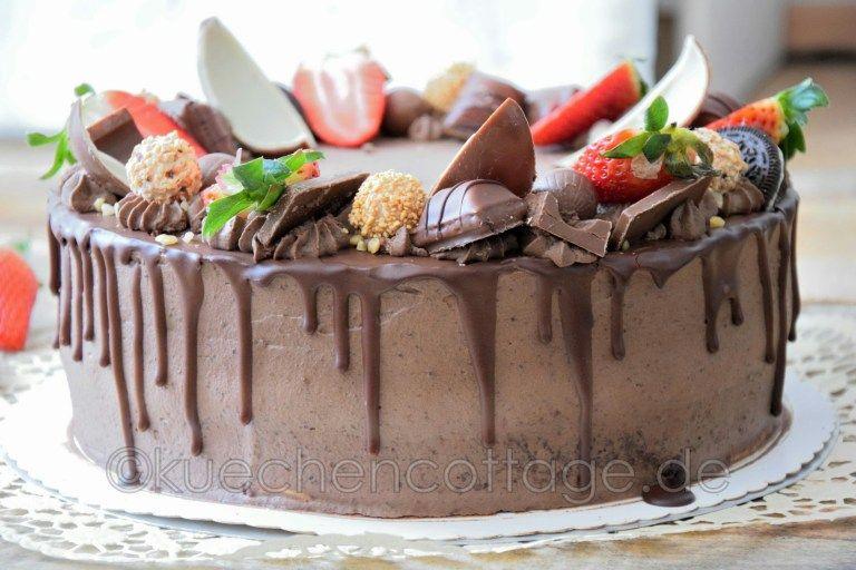 Erdbeer-Schoko-Torte | Drip Cake | mit Video