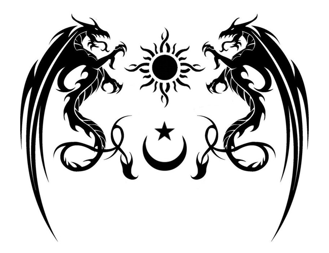 Tribal Tattoo Symbol: Tribal Dragons & Symbols Tattoo