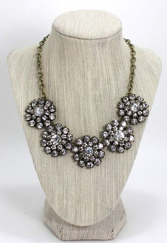 Crystal Flower Burst statement necklace – The Jewel Bar
