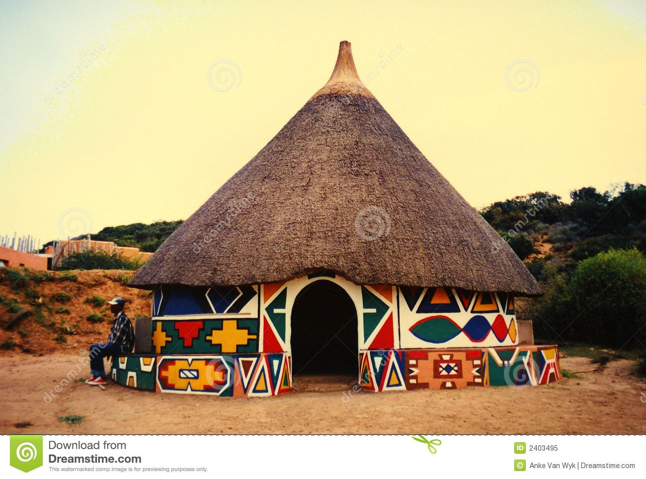 African hut in village download from over 28 million for Best tribal house