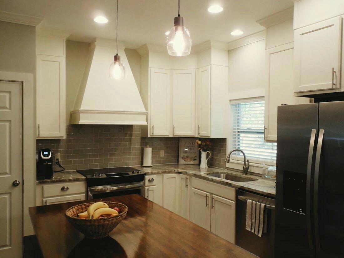 New custom home/ kitchen Brown fantasy granite, butcher ...