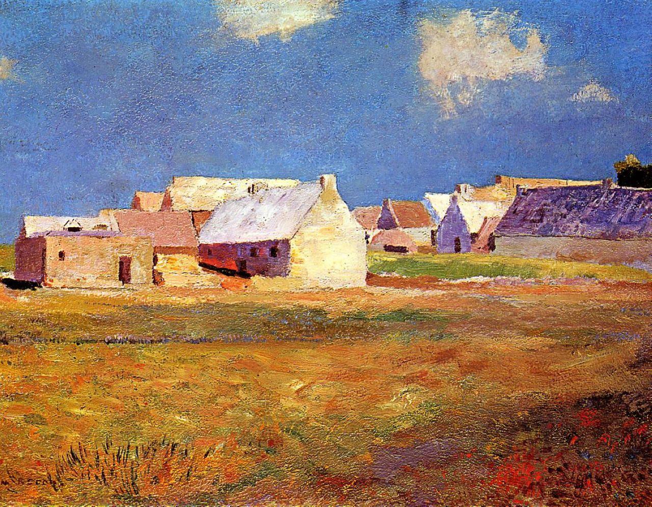 Breton Village 1890  Odilon Redon  WikiPaintings