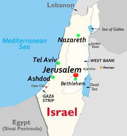 Jerusalem (Ashdod) Map | Sunday School-Bible Lands | Pinterest ...