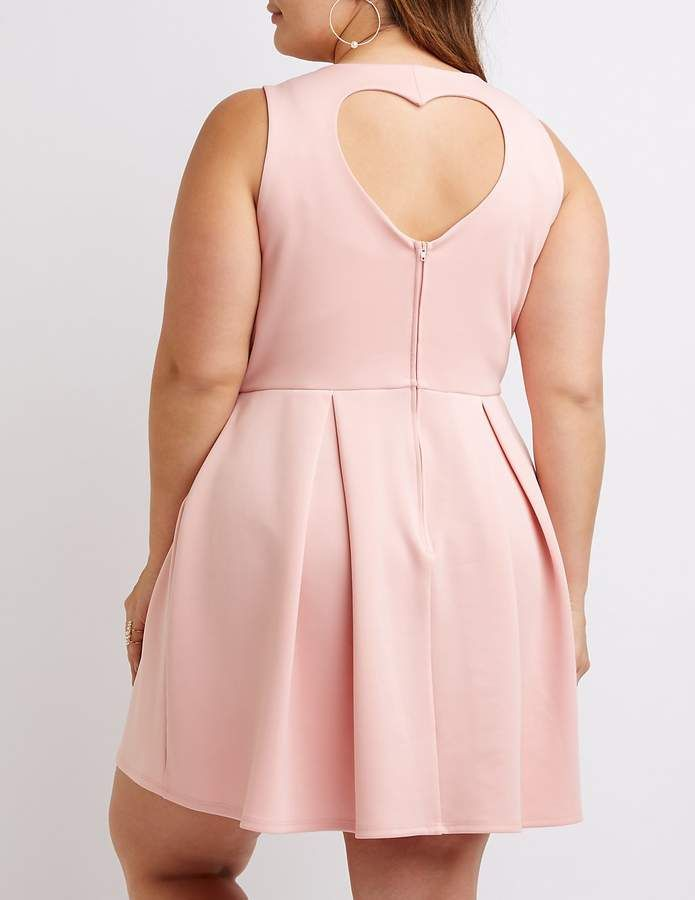 Charlotte Russe Plus Size Heart Cut-Out Skater Dress | Mini vestidos