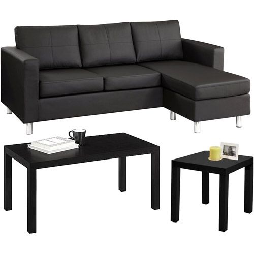 Small Spaces Living Room Value Bundle Walmart Com Small Space Living Room Small Space Living Leather Living Room Furniture