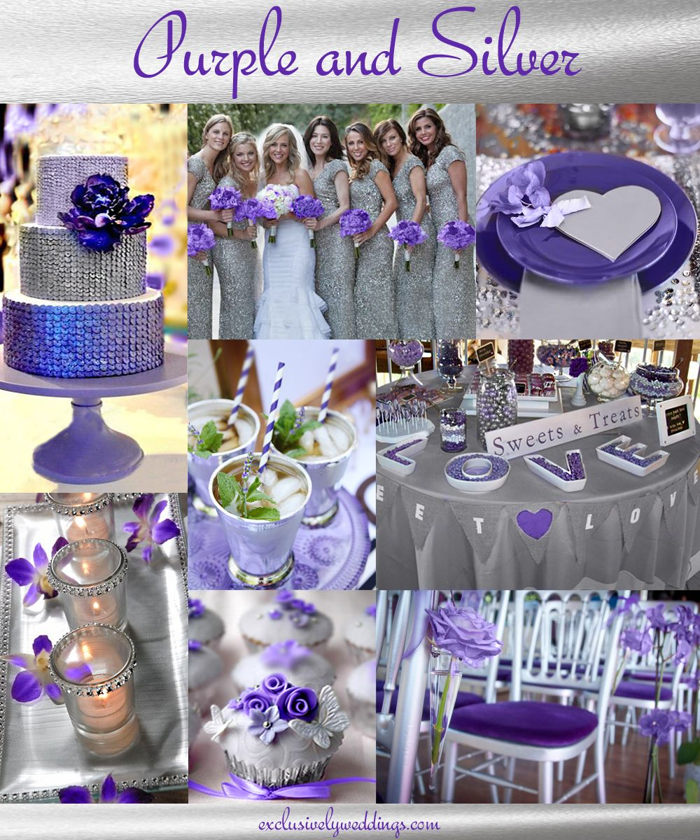 Purple Wedding Color - Combination Options | Silver wedding colours ...