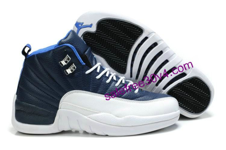 Air Jordan 12 Retro Dark Blue White