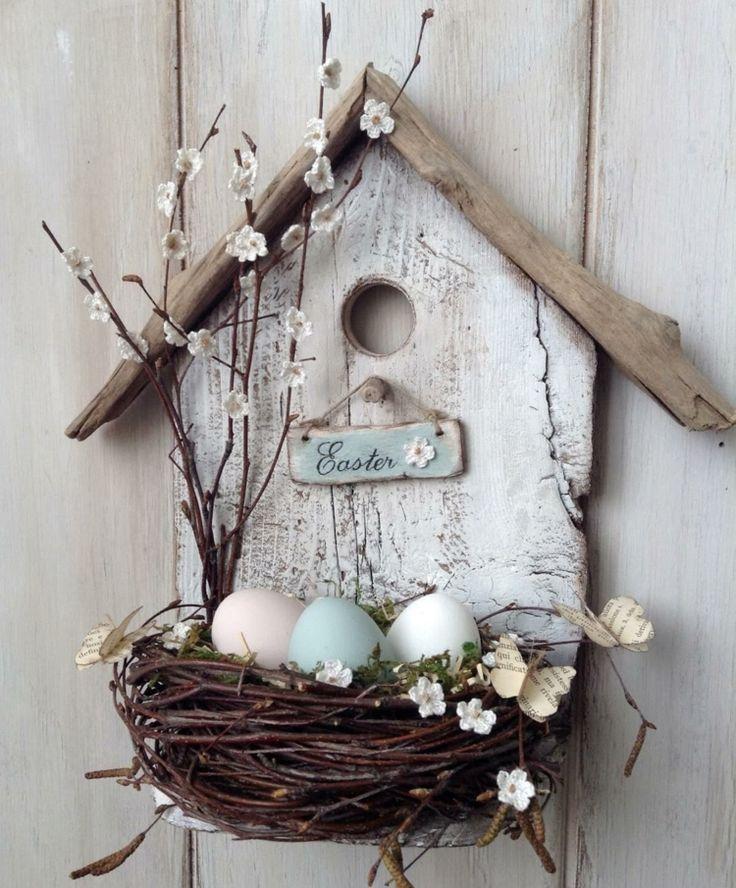 Frühlingsdekorationen mit natürlichen Materialien herstellen – Ideen mit Holz,…