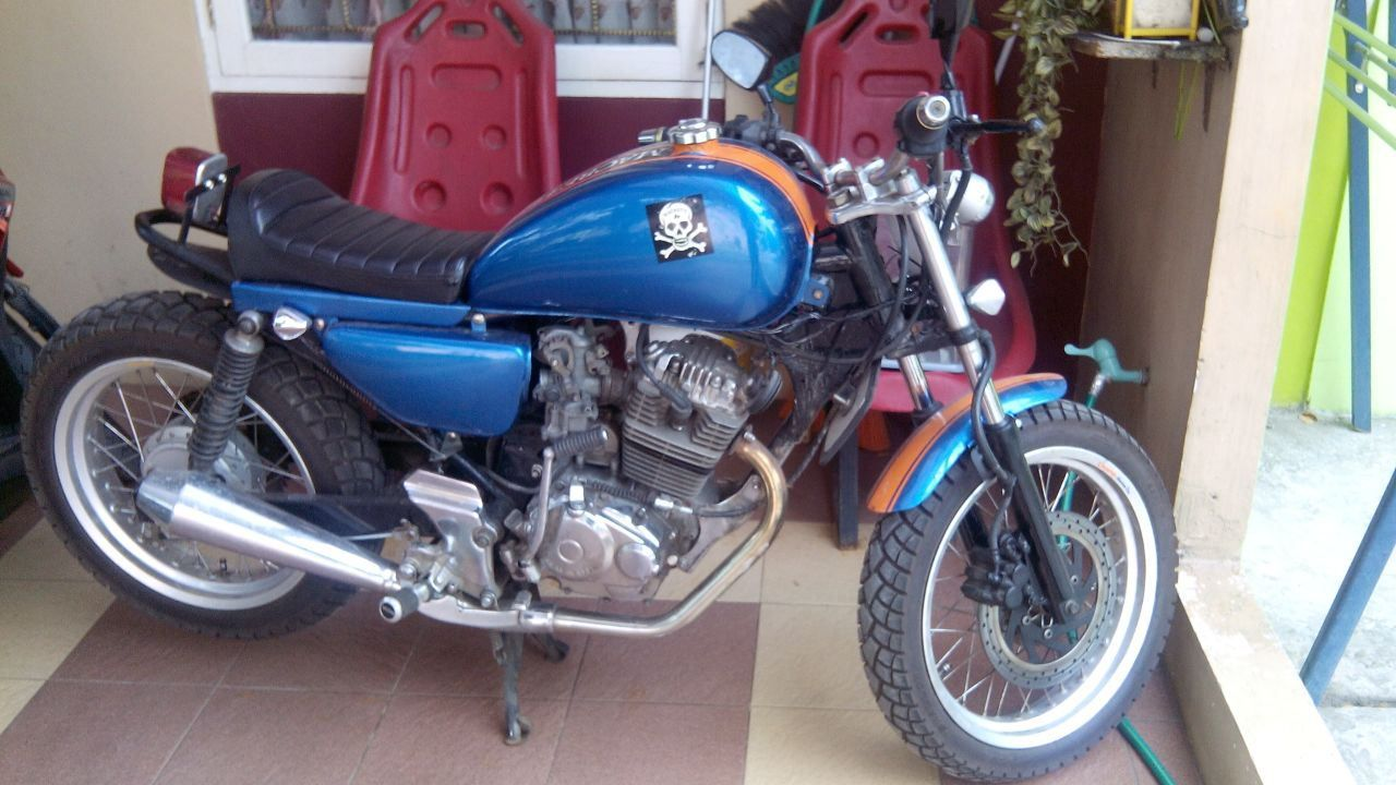 Honda Tiger Modifikasi Jap Style Single Seater Biru Modifikasi