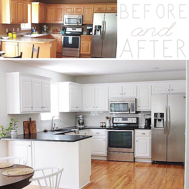 before and after with painted kitchen cabinets kitchen painting kitchen cabinets kitchen on kitchen cabinets painted before and after id=63658