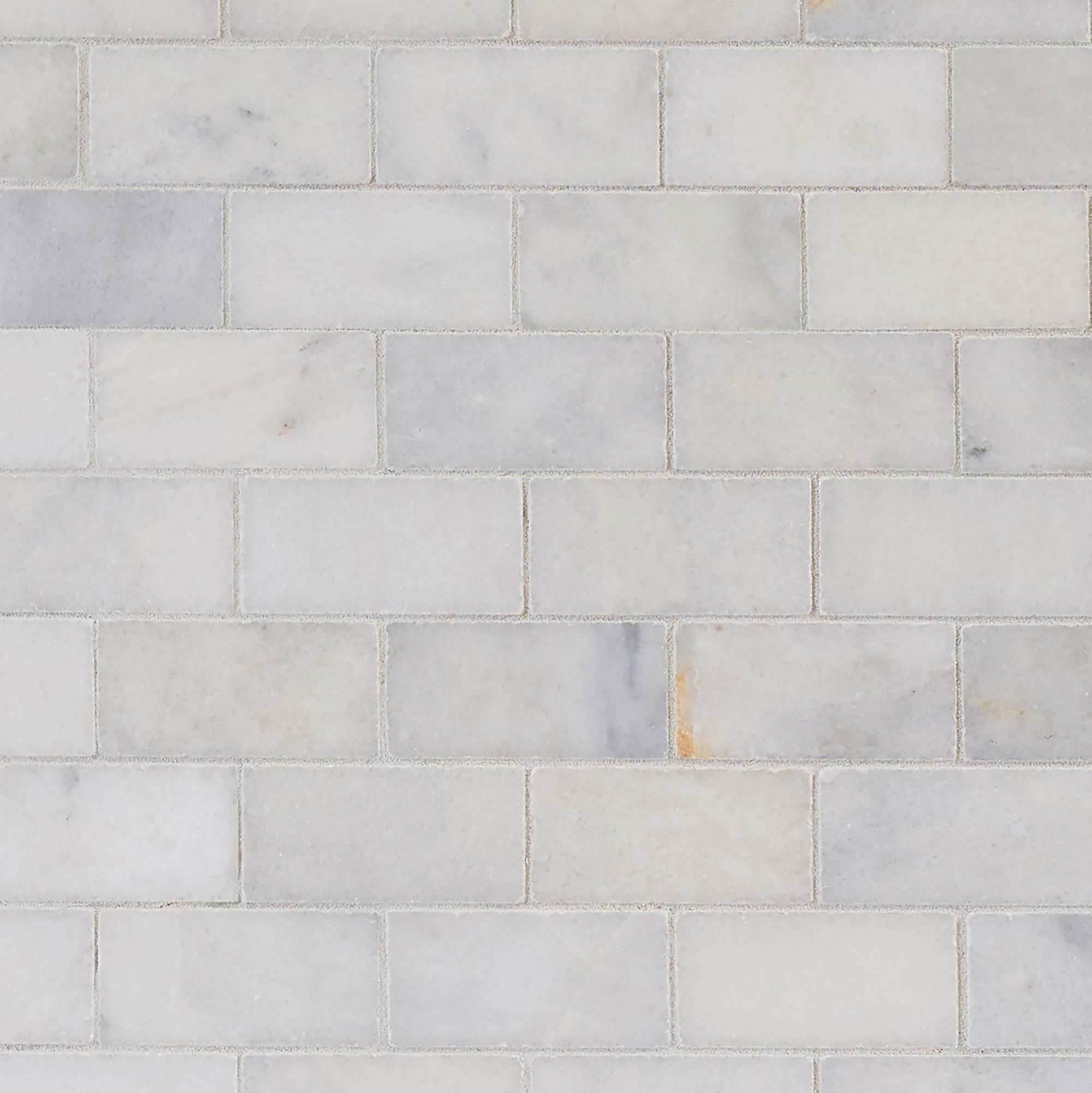 regal white honed marble mosaic floor
