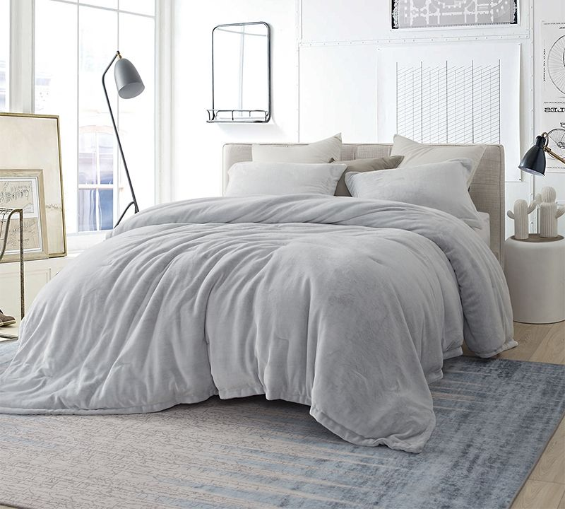 Coma Inducer Queen Comforter Oversized Queen Xl Bedding Frosted Granite Gray Comfortable Bedroom Grey Bedding Decor Grey Comforter Bedroom