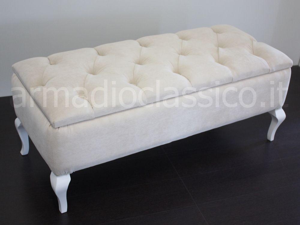 Panca Contenitore Bianca : Panca contenitore fondo letto per camere in stile classico e