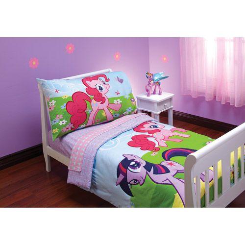My Little Pony Friends Toddler Bedding 4-Piece Set $37.00 | Kiddie ...