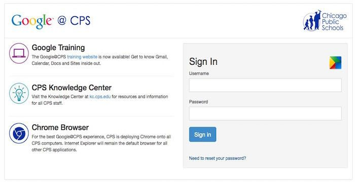 Cps Email Login Page Url With Images Google Training Login
