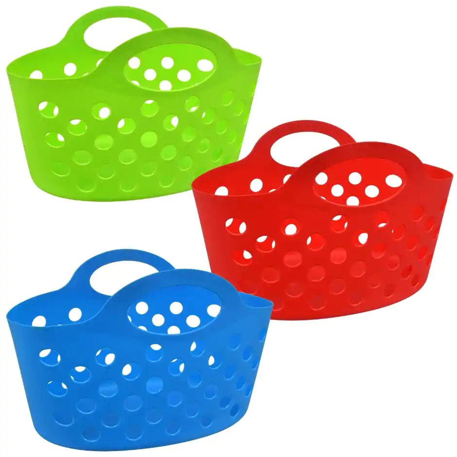Colorful Plastic Oval Carry Totes Storage Baskets Dollar Tree Organization Countertop Organization