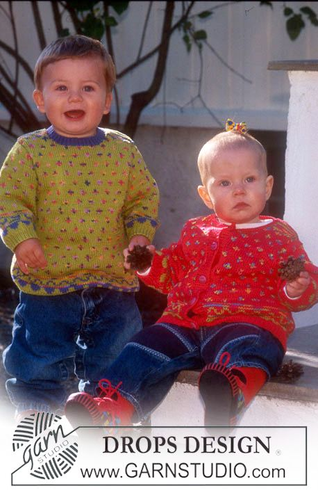 BabyDROPS 6-10 - Pullover and cardigan in Safran - Free pattern by ...