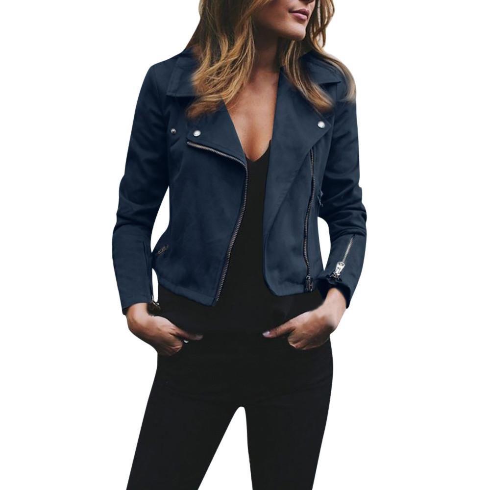 CLOOM Windbreaker Jacke Damen Mode Frauen Langarmshirt