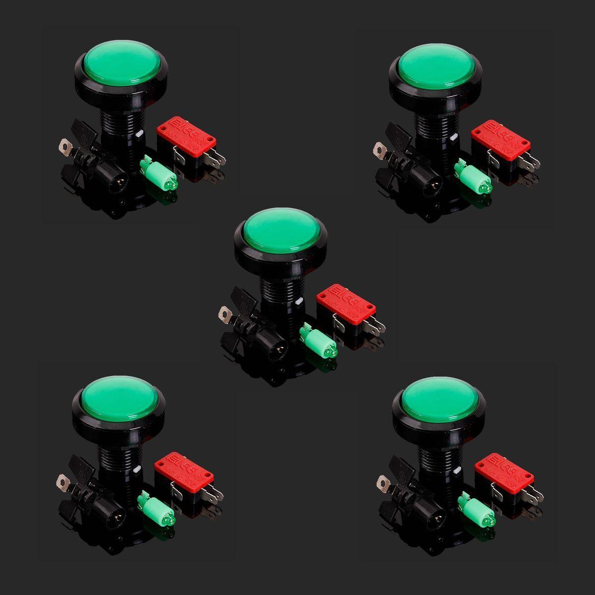 Push Button LED Light Lamp Beads Illuminated For Arcade Video Game Machine