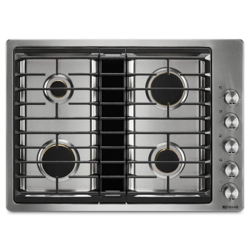 Jenn Air Jgd3430g 30 Inch Wide Built In Gas Cooktop With Downdraft Ventilation Stainless Steel Cooktops