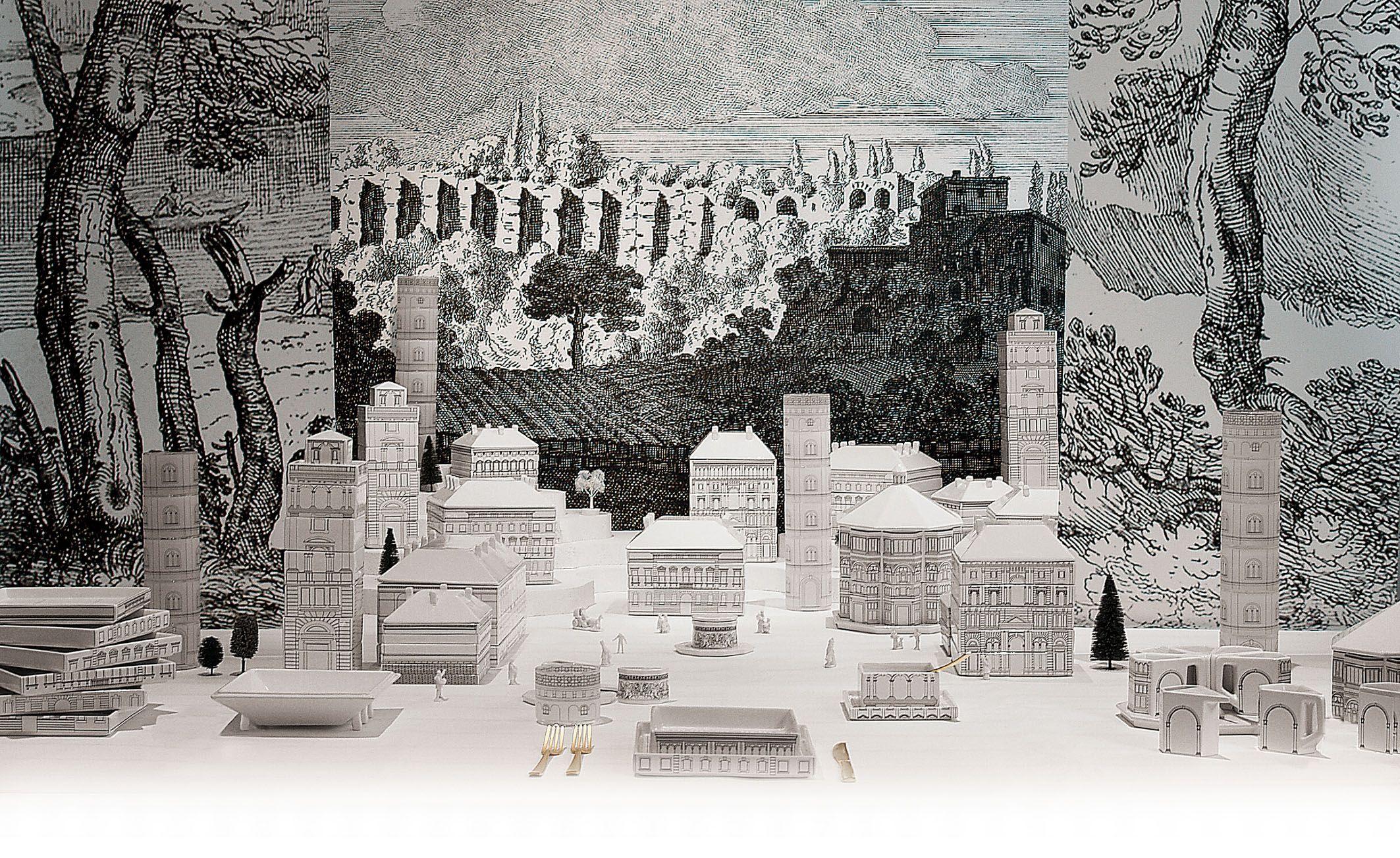 ArchiGlam / Palace by Seletti. Palace, una linea ironica e funzionale come quelle a cuiSelettici ha da sempre abituati. Palazzi e architetture Rinascimentali, disegnati daAlessandro Zambelli, che costituiscono un vero e proprio servizio da tavola, impilabile, compatto e modulare.