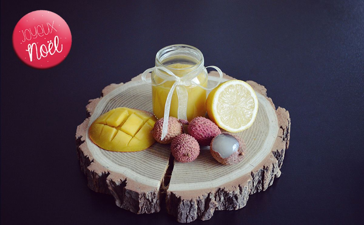 Baby christmas recipe mango lychee and lemon baby puree
