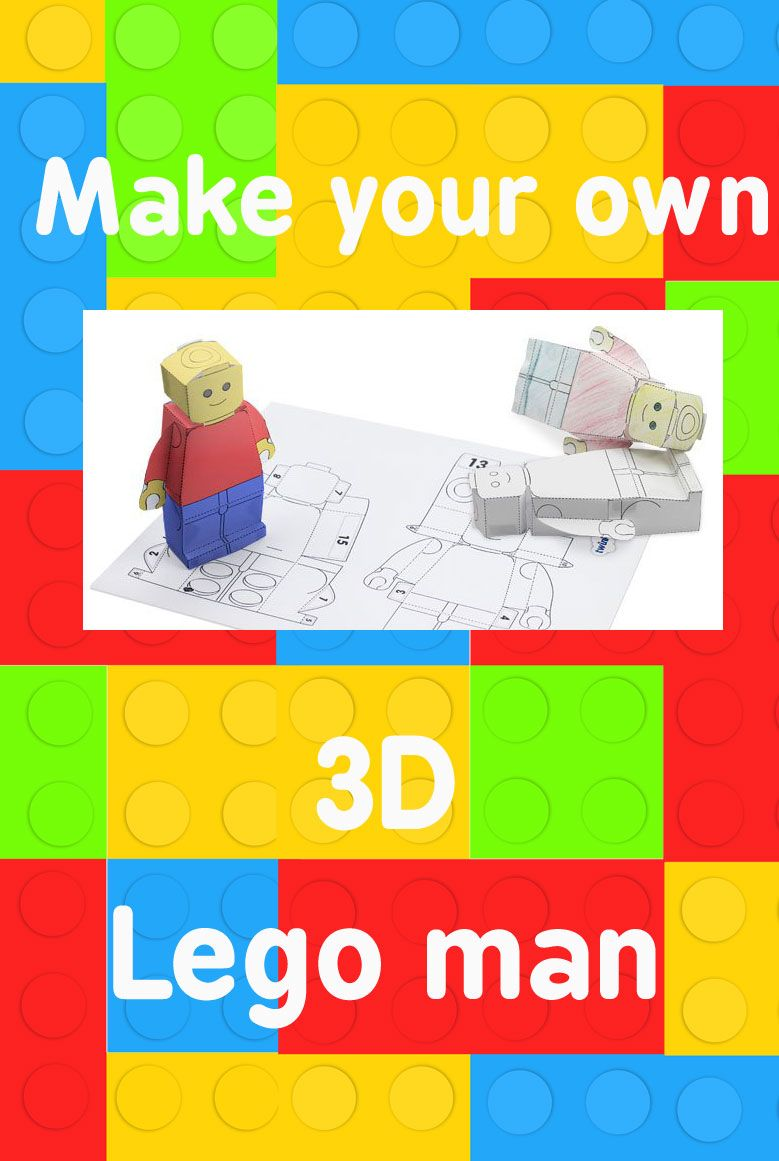 create your own 3d lego person template twinkl bricks for kids