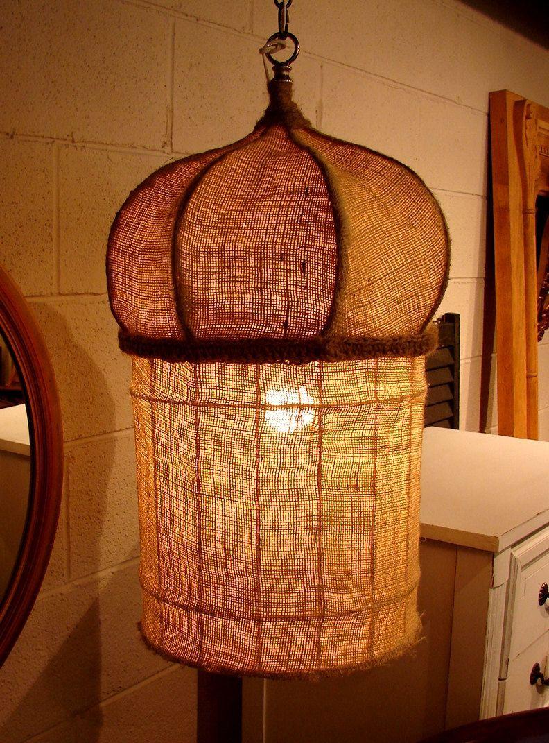 Primitive Hanging Rustic Boho Lamp | Best of Bohemian Interiors ...