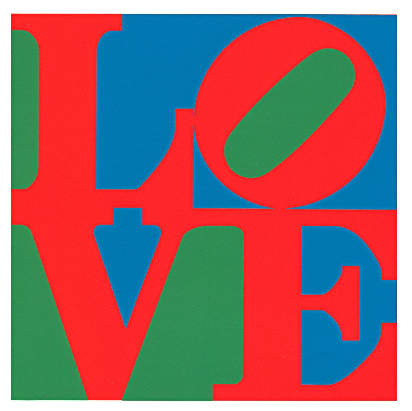 love fame works by robert indiana and andy warhol