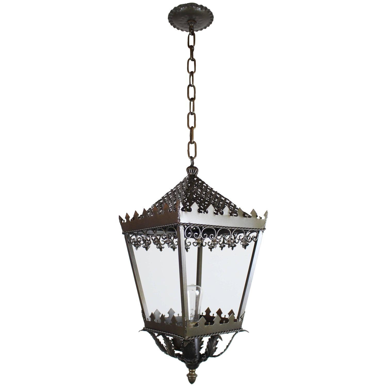 Gothic style single bulb brass lantern brass lantern bulbs and gothic style single bulb brass lantern arubaitofo Image collections