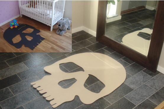 alfombra calavera