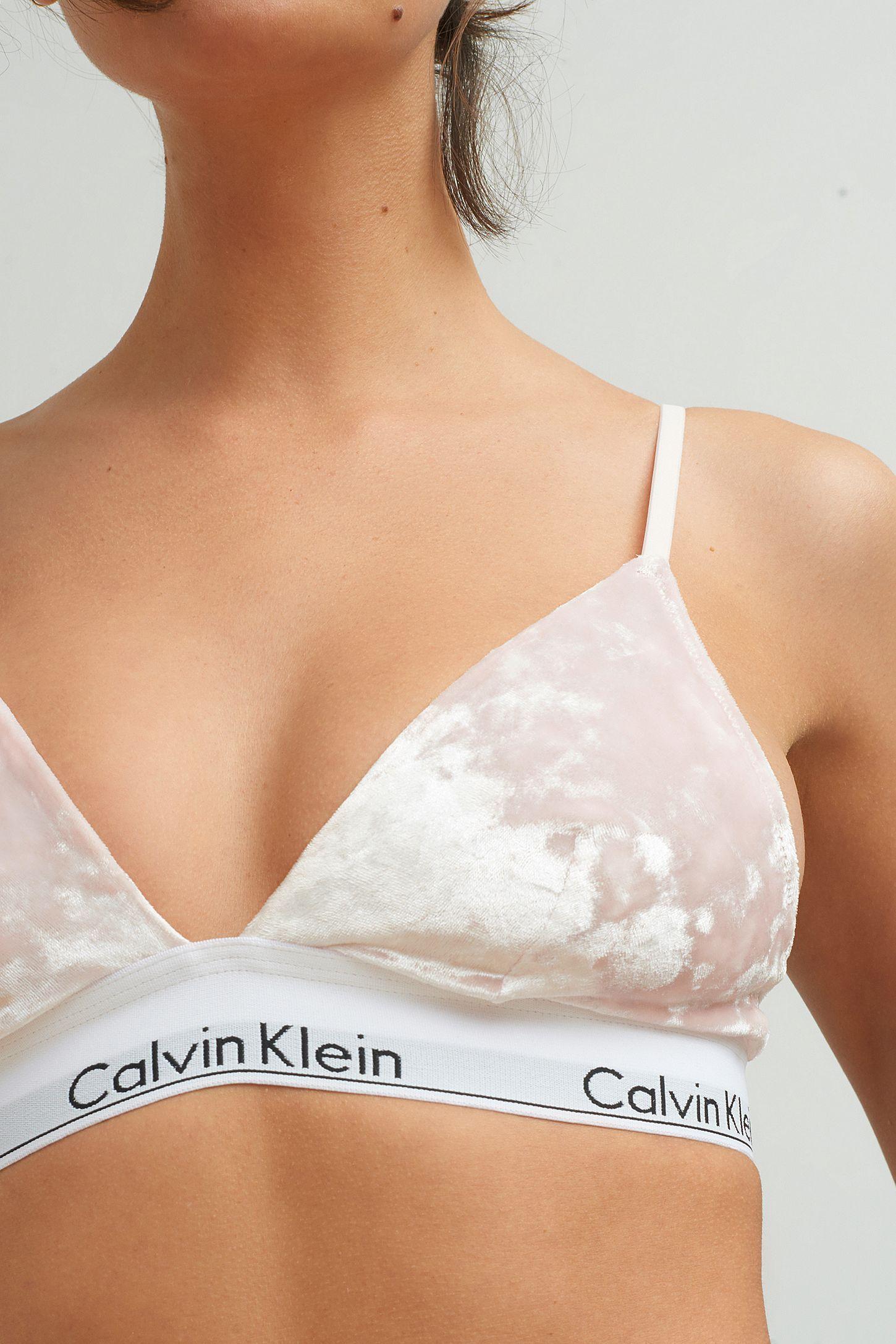 6fed21f94a965 Slide View  4  Calvin Klein Velvet Triangle Bra