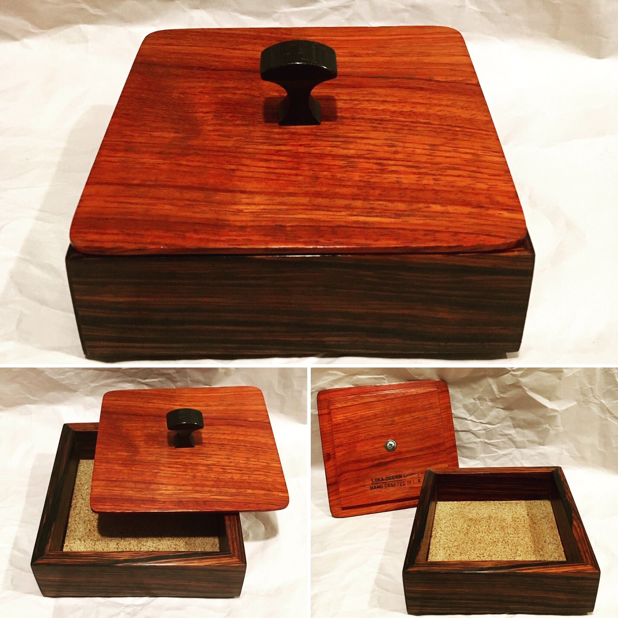 Keepsake Box Made Of Coco Bolo And The Top And Bottom Are