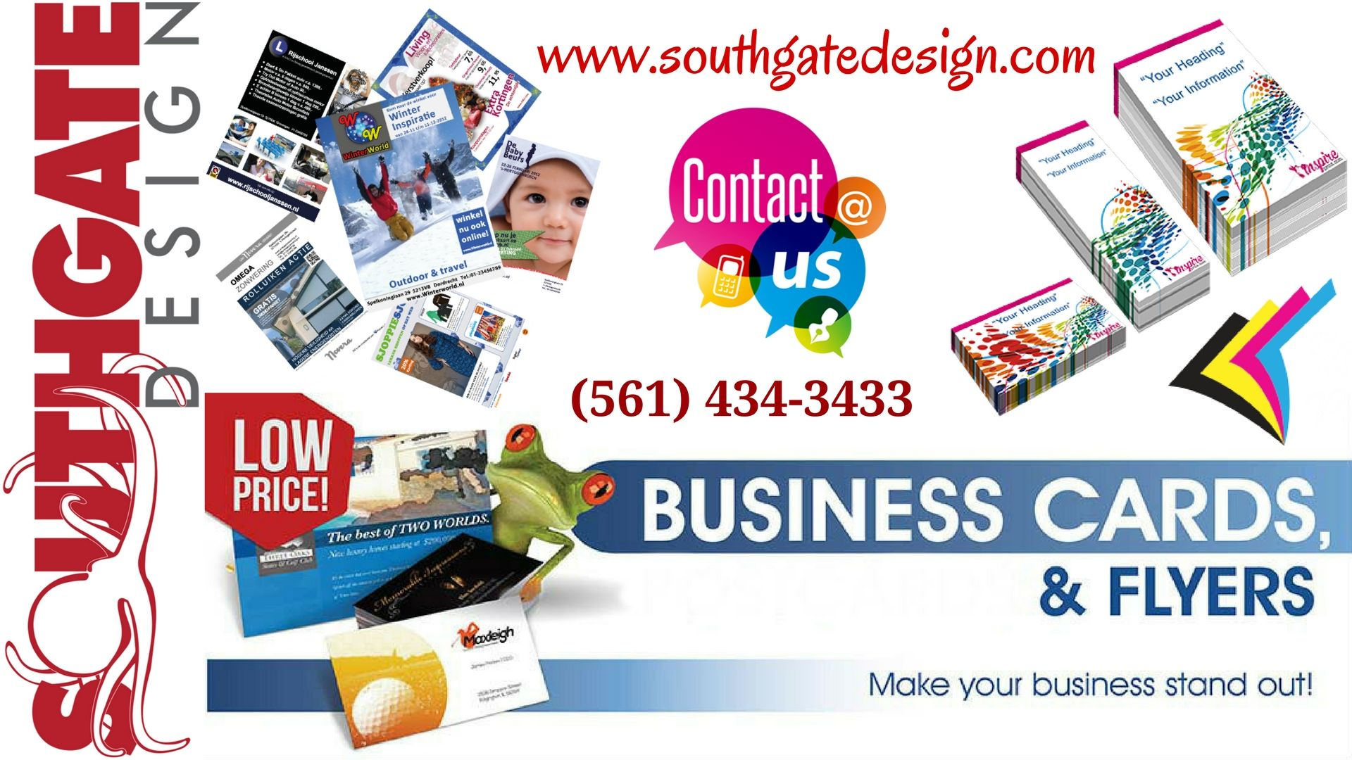 Southgate Design Is The Best Printing Company In Florida Print Business Cards Flyers Postca Cool Business Cards Printing Business Cards Business Card Design