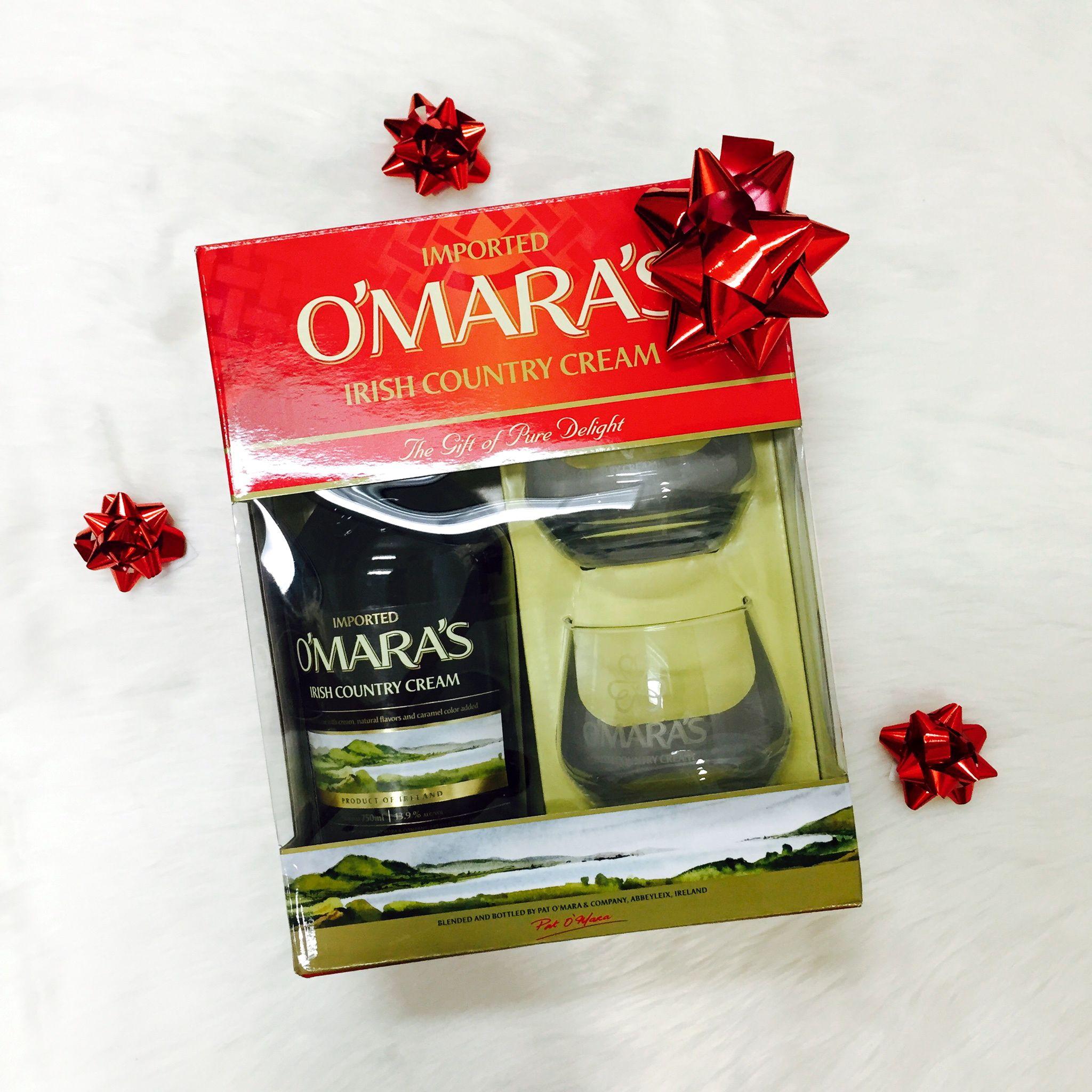 For the drinker! O'Mara's Irish country cream gift set