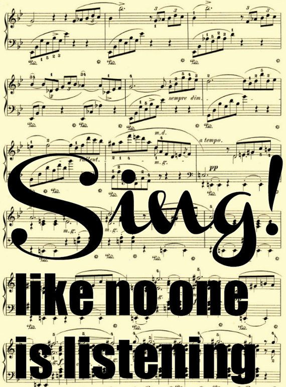 Sing Like No One Is Listening On Antique By Reimaginationprints