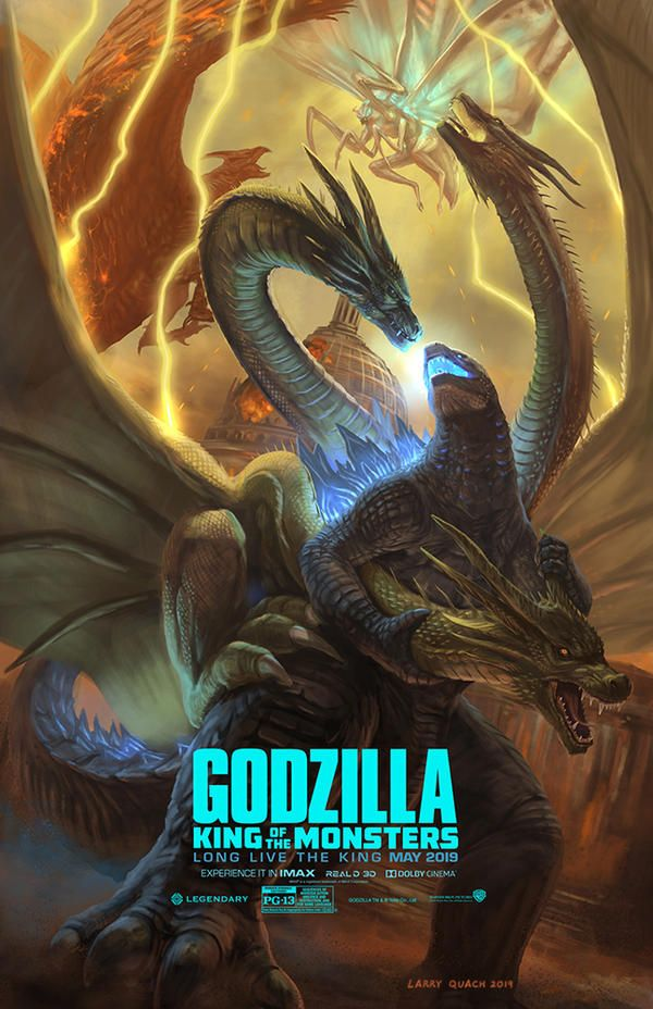 Godzilla King Of The Monsters By Nobackstreetboys On Deviantart Godzilla Godzilla Vs King Ghidorah All Godzilla Monsters