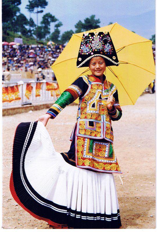 China Girl in festival dress