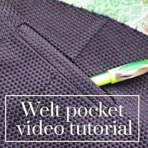 You are being redirected... #sewinghacksvideos Learn how to sew welt pockets with this quick video tutorial. #sewinghacksvideos