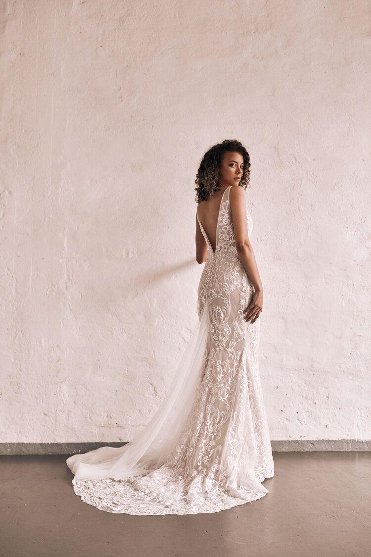 Zavana Brea Miss Ruby In 2020 Modern Glam Wedding Dress Glam Wedding Dress Beaded Lace Wedding Dress